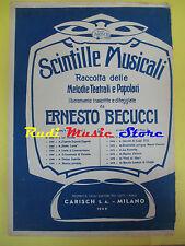 ERNESTO BECUCCI Santa Lucia 1949 RARO SPARTITO SINGOLO CARISCH no cd lp dvd mc