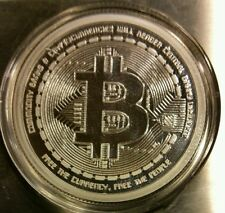 Bitcoin Proof 1 oz .999 fine silver commemorative AOCS limited no longer minted