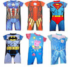 DISNEY & MARVEL AVENGERS BOYS GIRLS SWIMSUIT UV SUN PROTECTION SWIMMING COSTUME