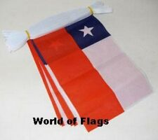 CHILE FLAG BUNTING Chilean 9m 30 Fabric Party Flags South America American