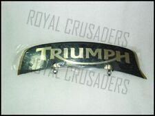 NEW TRIUMPH BRASS FRONT MUDGUARD NUMBER PLATE