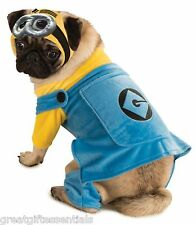 DESPICABLE ME 2 MINION PET COSTUME L Large Dog Clothing Goggles Gru LICENSED NEW
