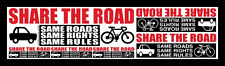 "2  ProBicycle ""Share The Road""  Bicycle Advocacy 6-in-1 MEGA Stickers"