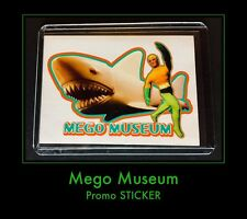 2006 MEGO MUSEUM 70's Aquaman Vs Shark WGSH Fig PROMO Trading Card RARE STICKER