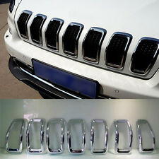 For Jeep Cherokee Front Centre Grill Grille Inserts Cover Trim Frame 2014-2016