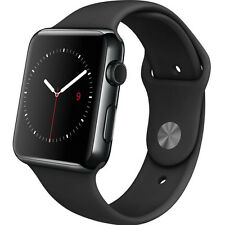 Apple Watch 42mm Space Black Stainless Steel Case with Black Sports Band