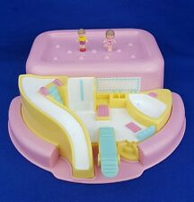 Vintage polly pocket bath time soap dish play set rose 1990 figures excellent