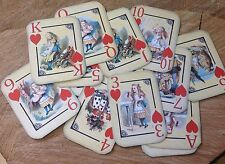 Thirteen Vintage Alice In Wonderland Playing Cards Gift Tags Toppers Party Prop