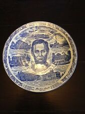 Vintage Abraham Lincoln President Springfield IL Civil War Collector Plate