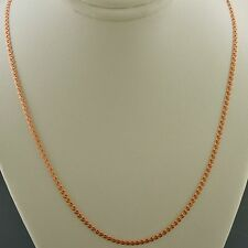 10K ROSE GOLD 18 INCH 2.0MM INTERLINK (LOVE) CHAIN NECKLACE FREE SHIPPING