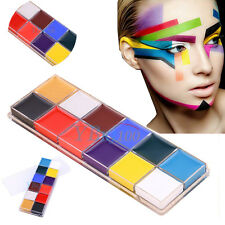 12 Flash Color Pro DIY Face Body Paint Oil Painting Art Makeup Tool Fancy Party