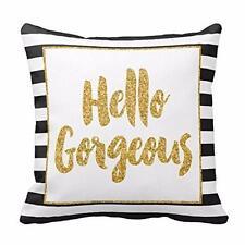 Glitter Letter  Sofa Waist Throw Pillow Case Cushion Cover Romantic Home Decor