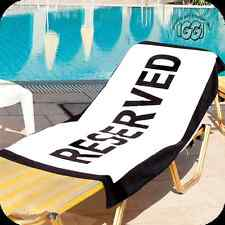 NEW Fun RESERVED BATH, BEACH, POOL TOWEL - Save that sun lounger bed or Chair !