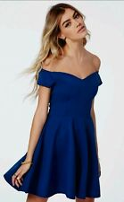 # Rare # Missguided cobalt blue bardot off the shoulder skater dress size 12