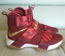 Nike iD Zoom Lebron Soldier 10 Red/Gold Championship Sz 7 EUC