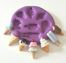 Lollies Ice Creams Set Silicone Mould Cake Decorate Sugarpaste Fondant Icing