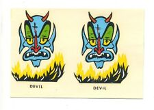 vtg impko water decal blue devil monster hot rod drag race motorcycle helmet