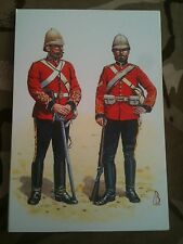 Military Postcard Captain & Corporal Kings Dragoon Guards Zulu 1879 Alix Baker