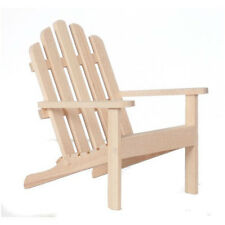 "Dollhouse Miniature Adirondack Chair Unfinished Wood Beach Camp 1"" scale 1:12"