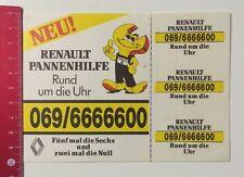 Aufkleber/Sticker: Renault Pannenhilfe - Rund Um Die Uhr (21041632)