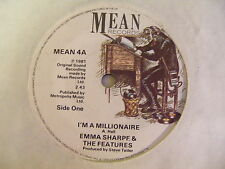 """EMMA SHARPE & THE FEATURES I'm A Millionaire Ex Mean UK 1981 7"""""""