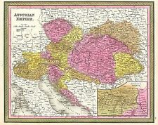 MAP ANTIQUE MITCHELL 1850 AUSTRIAN EMPIRE OLD LARGE REPLICA POSTER PRINT PAM1133