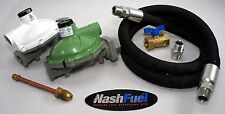 "PROPANE HOME SUPPLY KIT 1 MILLION BTU REGULATOR 3/4"" 6FT CRIMPED HOSE HOUSE 180°"