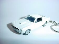 NEW 3D WHITE 1965 FORD MUSTANG SHELBY GT350 CUSTOM KEYCHAIN keyring key GT 65'