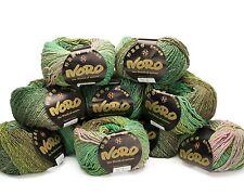 10 X 50g Bolas Verde Mezcla Noro Shiro-Color 5 30% cachemir, el 30% De Seda