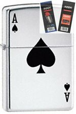 Zippo 24011 lucky ace Lighter with *FLINT & WICK GIFT SET*