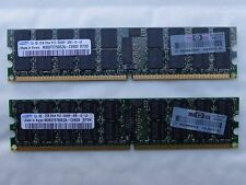 4GB 2x2GB 2Rx4 PC2-5300P ddr2 667 PARITY RAM 408853-B21 371-1900-2002-01 IBM HP