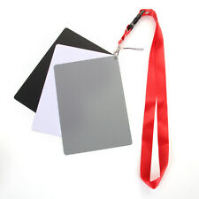 3in1 Digital White Balance 18% Grey Color Card Large Photography Exposure Strap