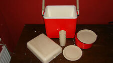 Vintage Retro Italian 3T 10 Piece Picnic Set Cool Box VW Camping USED