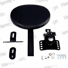 New Black Plug-In Driver Backrest Kit For Harley Touring 88-13 14 15 16