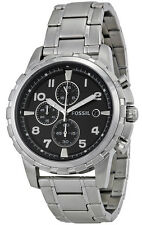 Fossil FS4542 Dean Black Dial Stainless Steel Chronograph Men's Watch