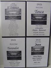 LOT OF 4 PUCCINI CLASSICAL MUSIC DVD'S ENCORE TOSCA IL TRITTICO TURANDDOT