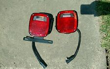 Take Off Tail Lights With Brackets Left and Right Trailer Flatbed Truck
