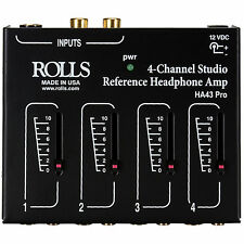 Rolls HA43 4-Ch Stereo Headphone Mixer/Amplifier