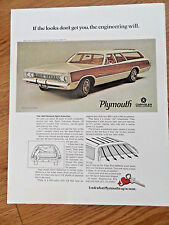 1969 Chrysler Sport Suburban Wagon Ad  the Looks don't Get You Engineering Will