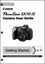Canon Powershot SX10 IS Digital Camera User Instruction Guide  Manual