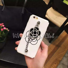 Fashion 3D Camellia Flower Chain Strap TPU Case Cover For Apple iPhone 6 6s plus