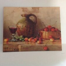 Robert Chailloux Lithograph Still Life With Cherries Winde Fine Prints 11x14 140