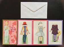 A Special Girl Paper Doll Greeting Card by Tom Tierney, 1996, Uncut, Unused