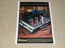 McIntosh 275 2000 release Tube Amplifier Ad, 1 page, Beautiful, FRAME IT!