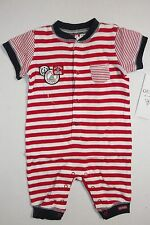GUESS BABY BOYS RED OVERALL SUIT GUESS LOGO SIZE 0-3 MONTH NEW WITH TAG