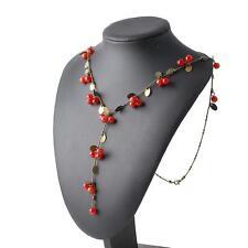Damen Mädchen Sexy Halskette Süße Rote Kirschen Hals-Anhänger Hochzeit Schmuck