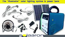 All-In-1 Solar Lighting System-Generator-Power Bank-Charger-4 Camping &Blackouts