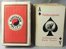 Orignl Vintage NORTHERN PACIFIC Railway Yellowstone RAILROAD Train Playing Cards