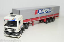 TEKNO DAF 95 SPACE CAB TRUCK WITH TRAILER SCANSPED NEAR MINT