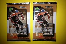 2 Lot 1999 Upper Deck Retro McDonald's Hockey Cards Unopened Wax Packs Gretzky